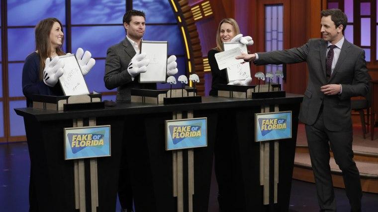 Late Night With Seth Meyers, Fake or Florida skit