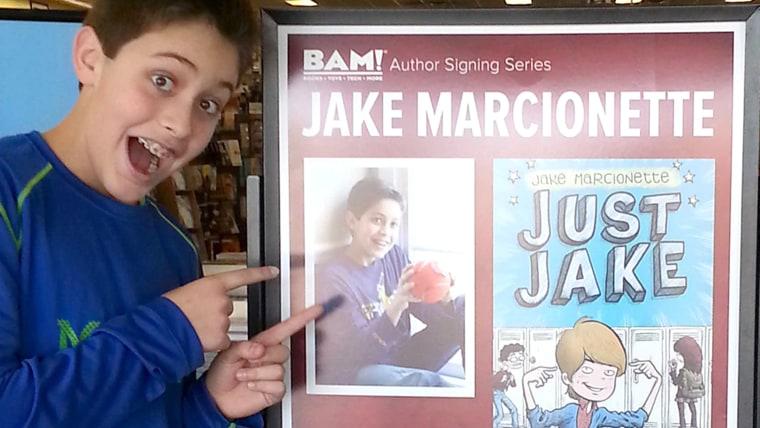 Jake at a book signing