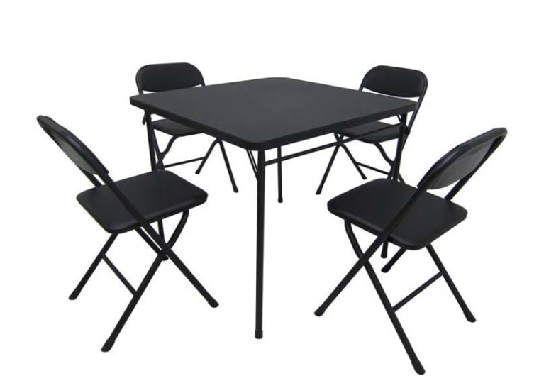 Wal-Mart Stores is recalling this card table and chair set after reports of injuries, including fingertip amputations.