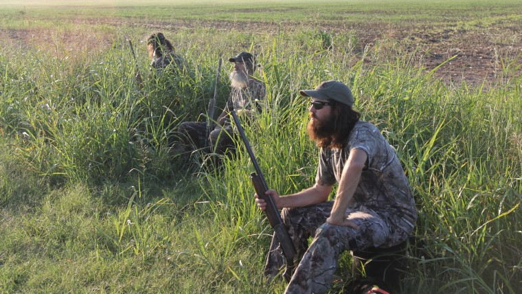 """Image: Phil, Si and Jase Robertson on """"Duck Dynasty"""""""
