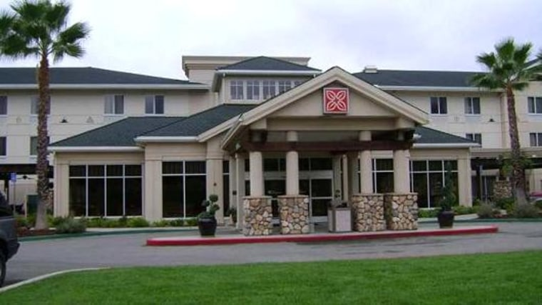 An anonymous person paid the hotel bill for all of the guests at the Hilton Garden Inn in Redding, Calif., on Sunday.