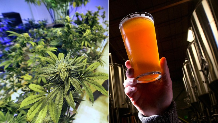Colorado's legalization of marijuana may put it into competition with legal beer sales.