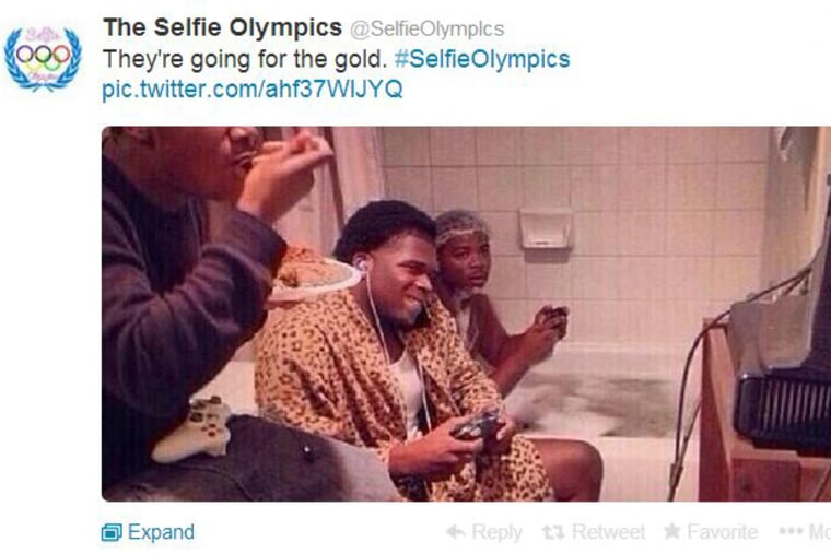 """The """"Selfie Olympics"""" takes off on Twitter."""
