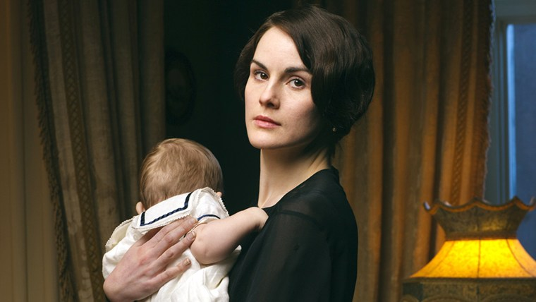 """This photo released by PBS and Carnival Film and Television Limited shows Michelle Dockery as Lady Mary in a scene from the Masterpiece TV series, """"Do..."""