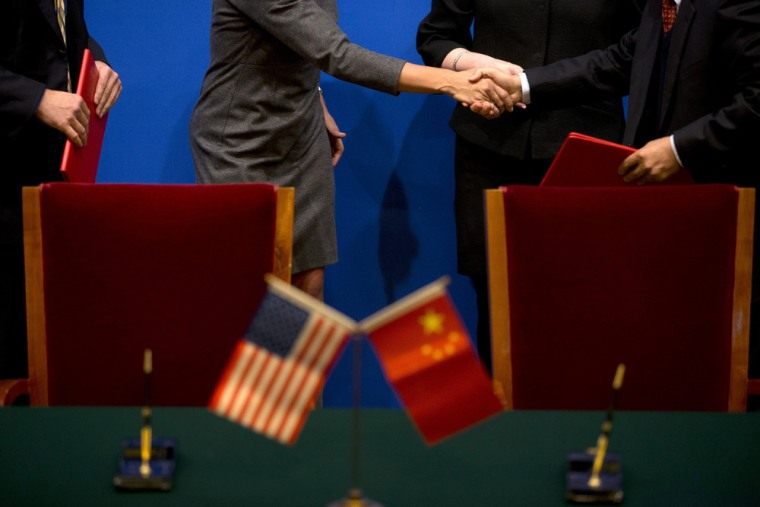 Official figures from China show that it has risen to the top rank of annual trade in goods in 2013, surpassing the U.S.