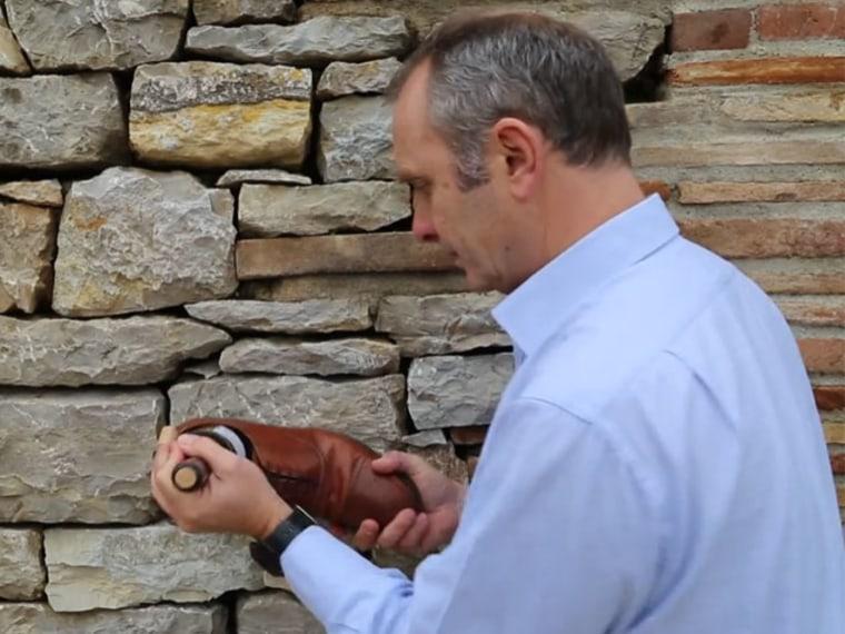 Wine bottle opening trick