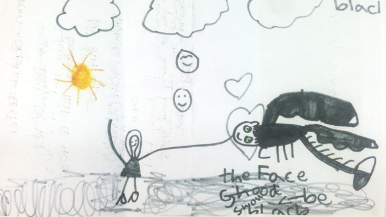 Image: Sophie Lester's drawing of a dragon