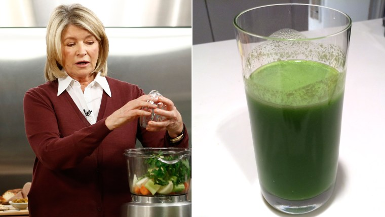 Martha Stewart's signature green juice is a morning ritual.