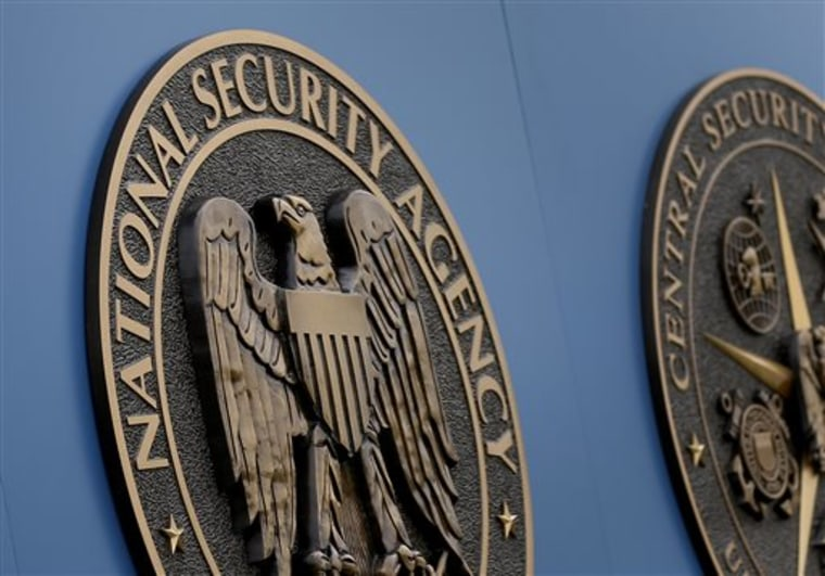 FILE - This Thursday, June 6, 2013, file photo, shows a sign outside the National Security Administration (NSA) campus in Fort Meade, Md. The National...
