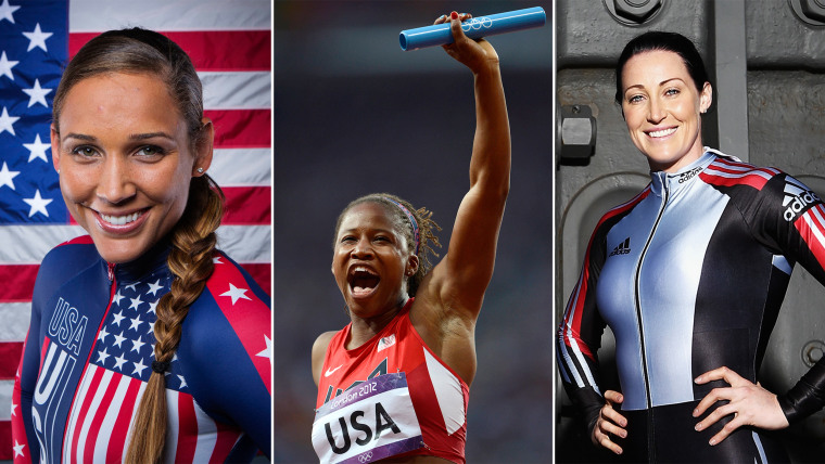 Lolo Jones, Lauryn Williams, Jana Pittman