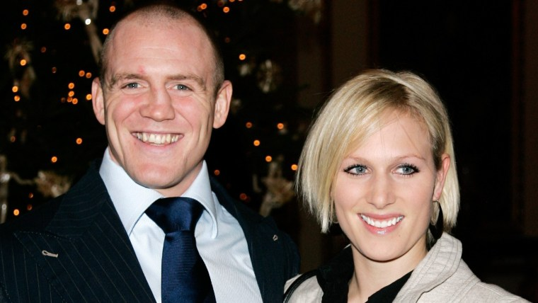 New parents Mike Tindall and Zara Phillips.