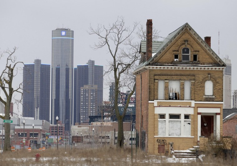 DETROIT, MI - FEBRUARY 24: The General Motors (GM) world headquarters is seen February 24, 2013 in Detroit, Michigan. The city of Detroit has faced s...