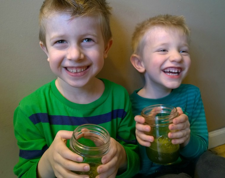 Green smoothies go down great.