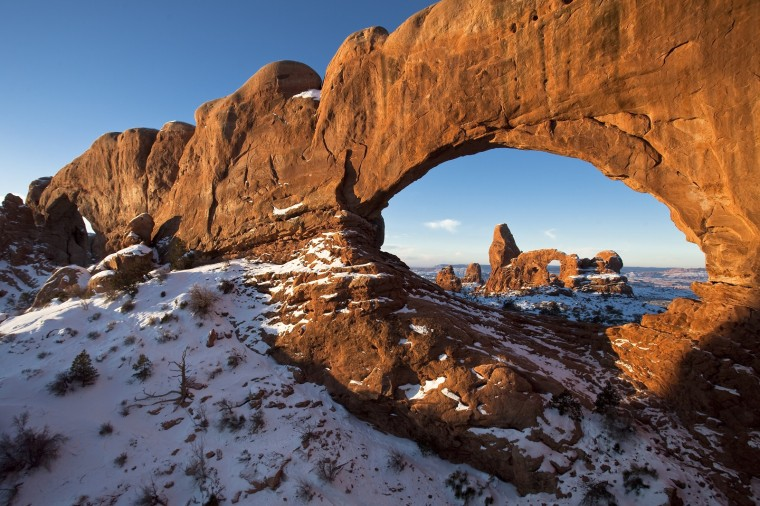 Image: Arches National Park in winter