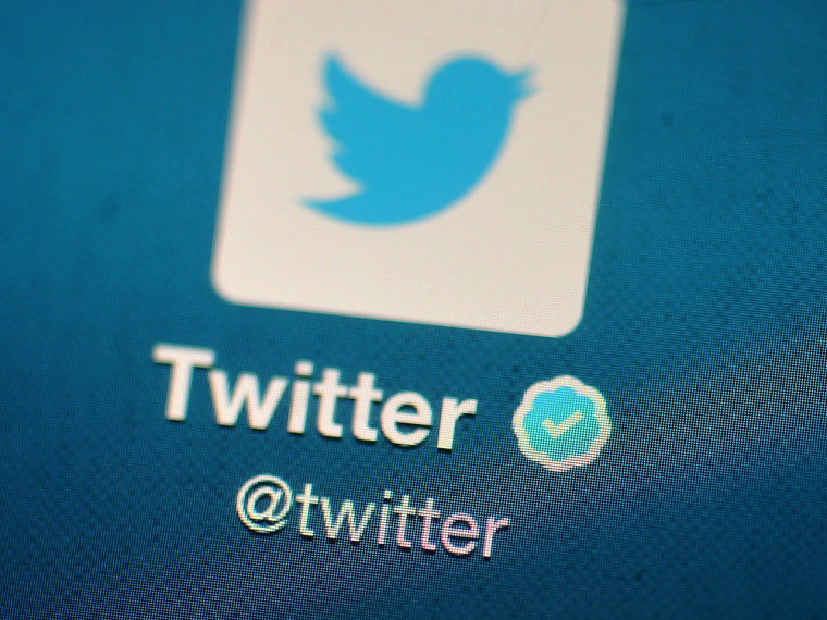 LONDON, ENGLAND - NOVEMBER 07: In this photo illustration, The Twitter logo is displayed on a mobile device as the company annonced it's initial publ...