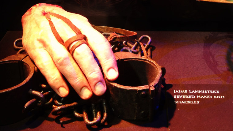 """Image: Jaime's hand on """"Game of Thrones"""""""