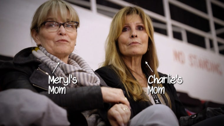 """Otherwise known as """"The Moms,"""" Cheryl Davis (left) and Jacqui White have followed their champion kids everywhere."""