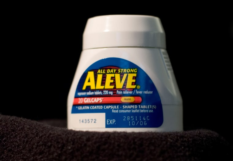 Naproxen — the key ingredient in Aleve and dozens of other generic pain pills — may have a lower risk of heart attack and stroke than rival medications like ibuprofen, according to an FDA review.