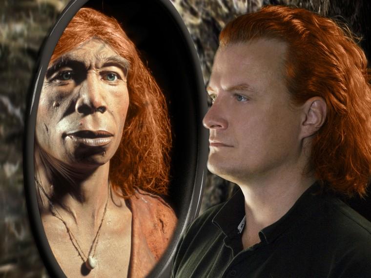 Image: Neanderthal and human