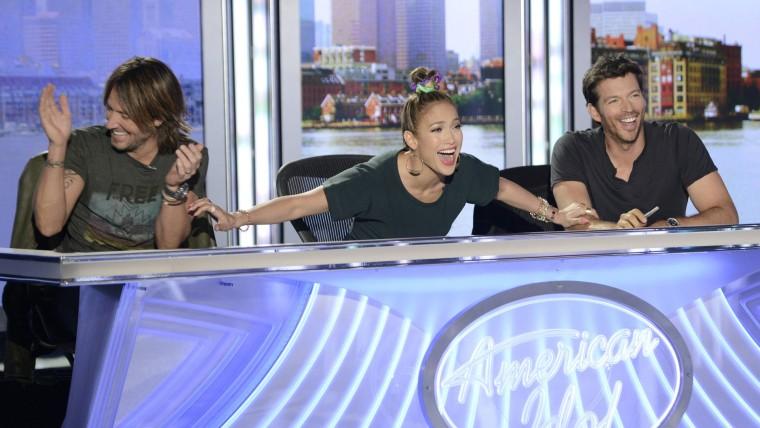 Image: Keith Urban, Jennifer Lopez, Harry Connick Jr.