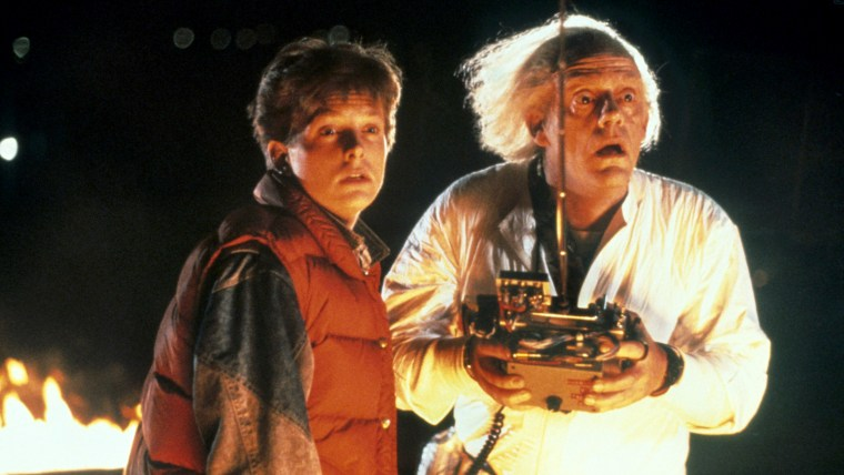 Michael J. Fox and Christopher Lloyd in the original