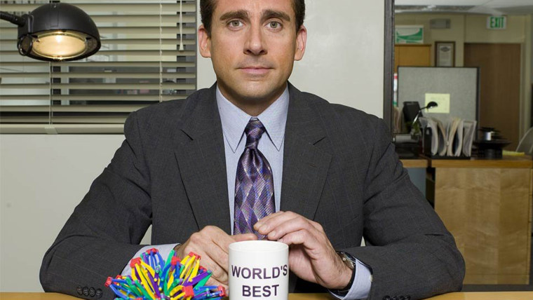 THE OFFICE -- Pictured: Steve Carell as Michael Scott -- NBC Photo: Mitchell Haaseth