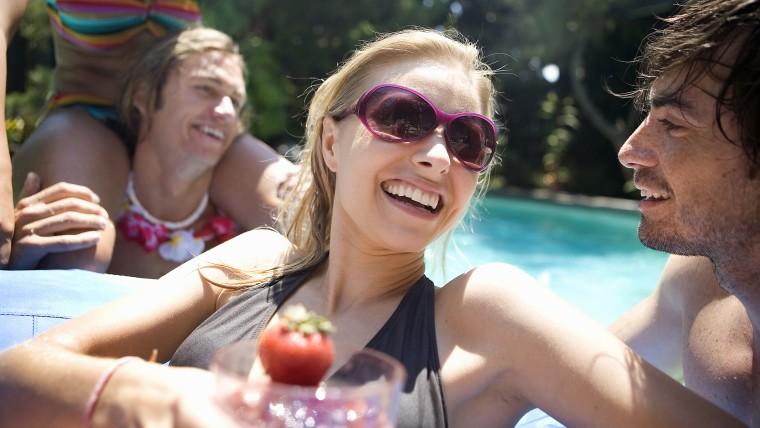 pool party, binge drinking, binge eating, alcohol, bloated, detox, cleanse