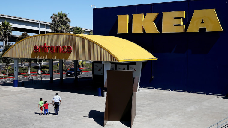 EMERYVILLE, CA - JUNE 26:  Customers enter an IKEA store on June 26, 2014 in Emeryville, California. Swedish furniture retailer IKEA announced that it...