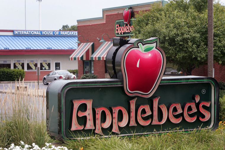 ELGIN, IL - JULY 16:  IHOP and Applebee's restaurants sit next door to each other July 16, 2007 in Elgin, Illinois. IHOP Corp. has agreed to purchase ...