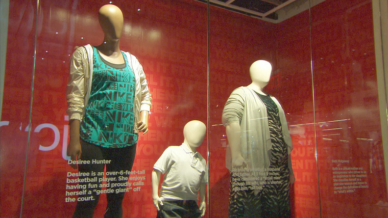 """TODAY's """"Love Your Selfie"""" mannequins featured in JCPenney's Manhattan store."""