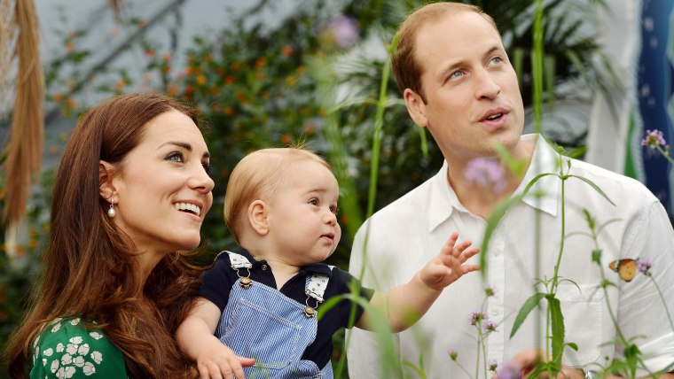 Royal family celebrates Prince George's first birthday.  EDITORIAL USE ONLY  This photo dated Wednesday July 2, 2014, was taken to mark Prince George's first birthday and sh...