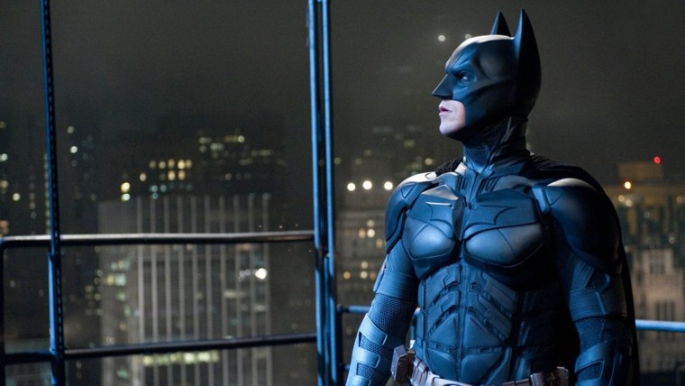 "Christian Bale as Batman in \""The Dark Knight Rises\"".\"""