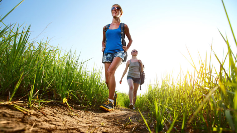 hiking, walking, how to lose weight, burn more calories, lose weight, heart monitor, walking poles