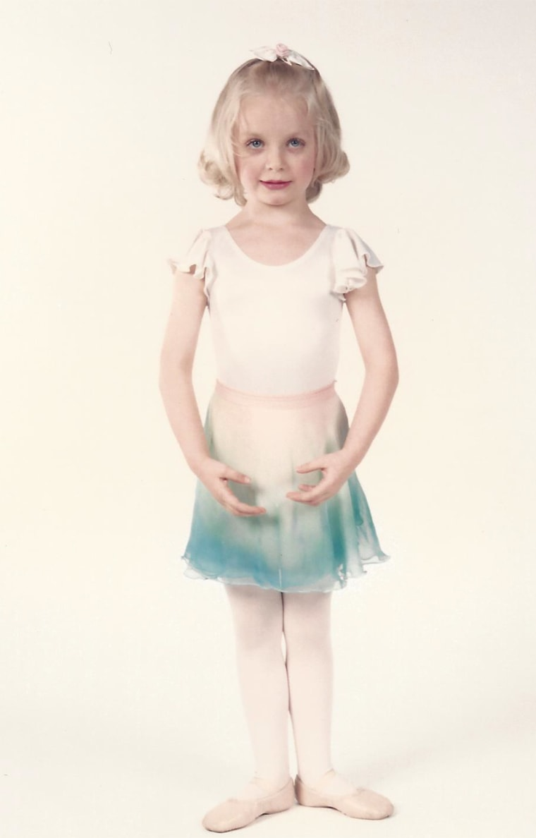 Maggie at age 4, when she started ballet lessons.