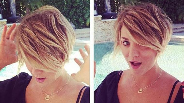 Big Bang Theory Star Kaley Cuoco Chops Hair Into Pixie
