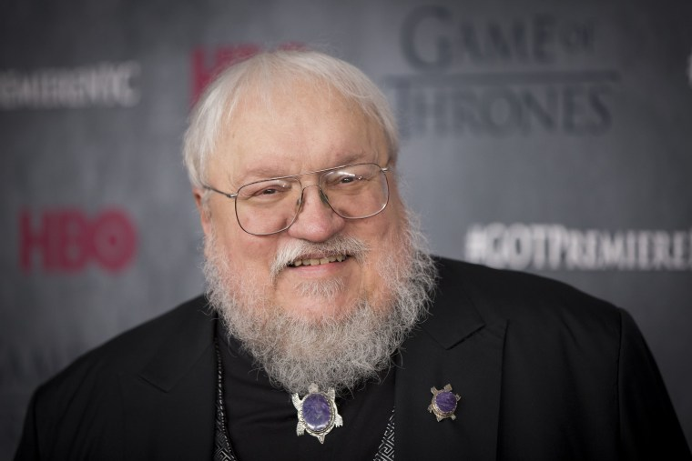 """Author and co-executive producer George R.R. Martin arrives for the premiere of the fourth season of HBO series """"Game of Thrones"""" in New York March 18..."""