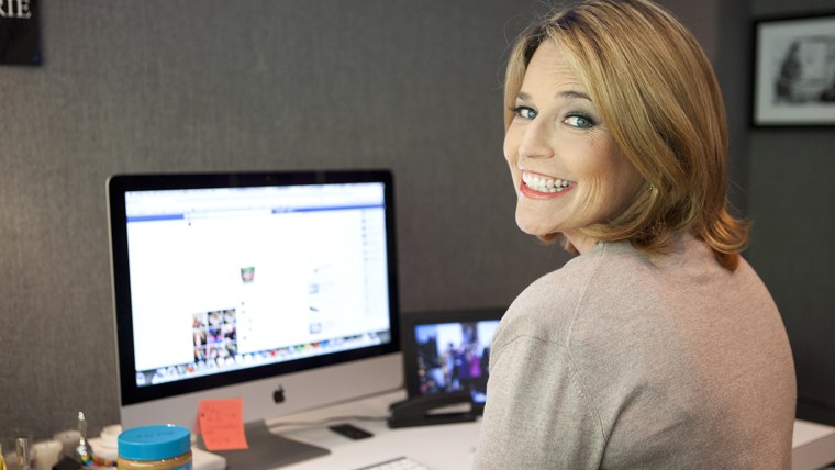 Savannah chats with TODAY viewers during a live Facebook Q&A Wednesday.