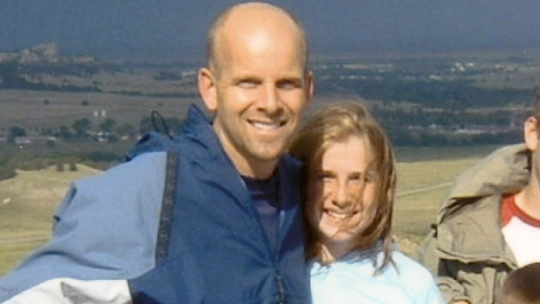 Jim Higley with daughter Wallis at age 13.