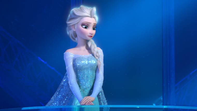 """Teenage Elsa the Snow Queen in a scene from the animated feature \""""Frozen.\"""""""