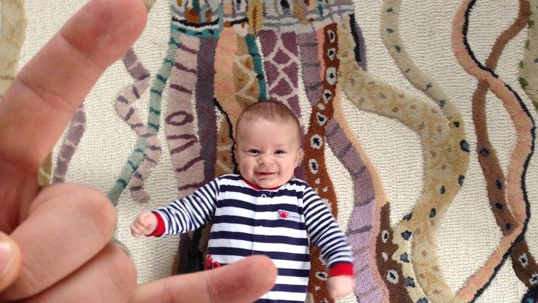 Livingston Reda is one happy baby.