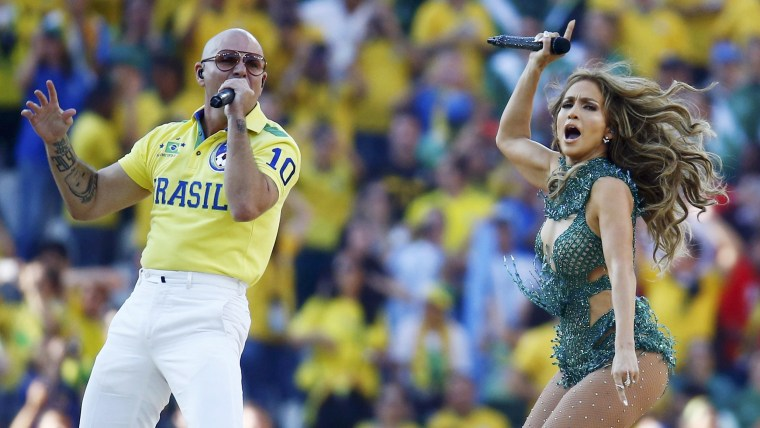 Pitbull's pants are the talk of social media after World Cup