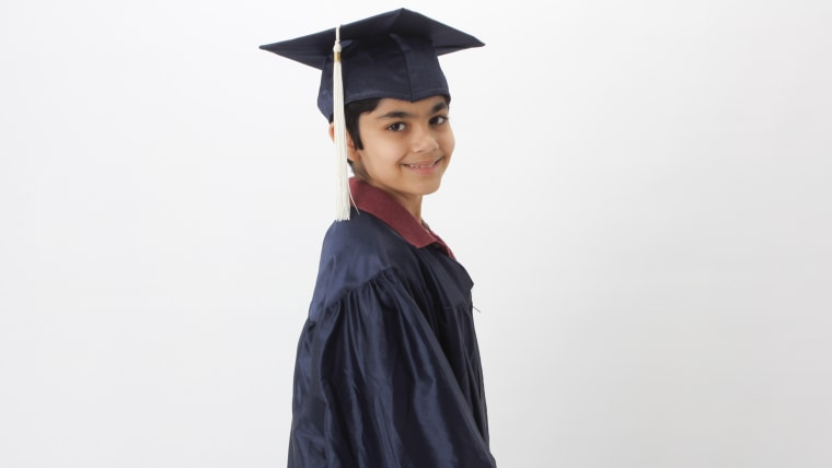 Tanishq Abraham, a 10-year-old from Sacramento, celebrated his high school graduation on Sunday and is nearly done with an associate's degree.