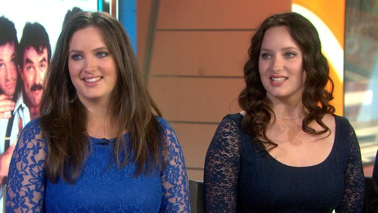Image: Michelle Blair Ontonovich and her twin sister Lisa Blair.