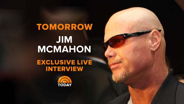 Jim MacMahon will be live on TODAY Wednesday.