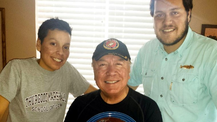 "Texas State Sen. Juan ""Chuy"" Hinojosa (center) is flanked by his daughter Kriselda Hinojosa (left) and son, Johnathan Weisfeld-Hinojosa (right). The state senator defended his daughter's sexuality in a guest column published Father's Day in a local newspaper."