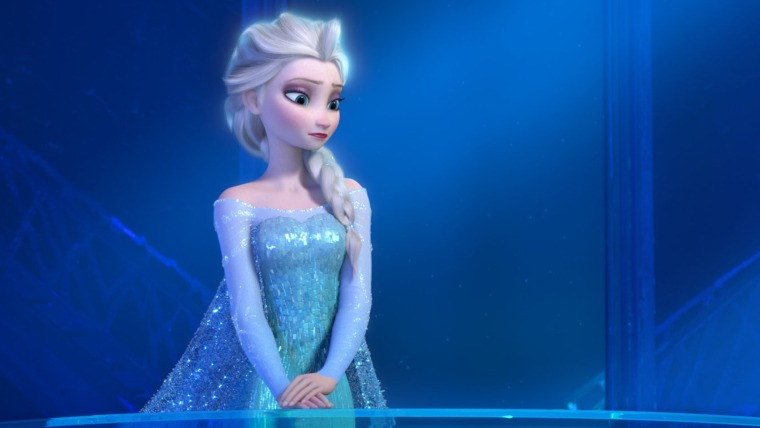 """The name Elsa, from the Disney animated feature """"Frozen,"""" is a hot baby name."""
