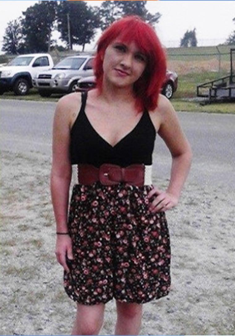The dress deemed too short.