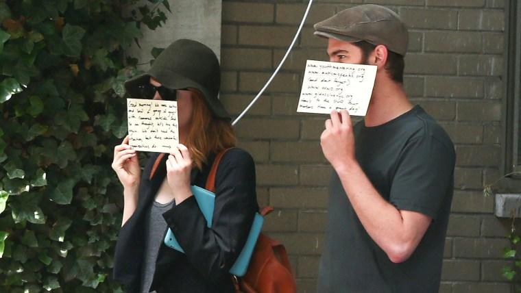 Image: Andrew Garfield and Emma Stone