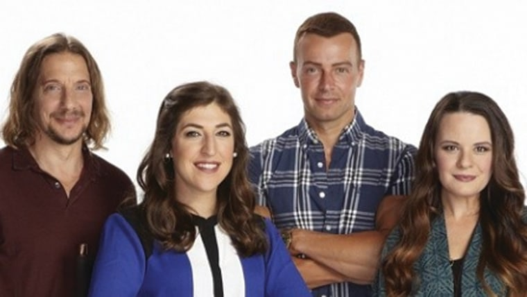 "Image: Michael Stoyanov, Mayim Bialik, Joey Lawrence and Jenna von Oy of ""Blossom"""