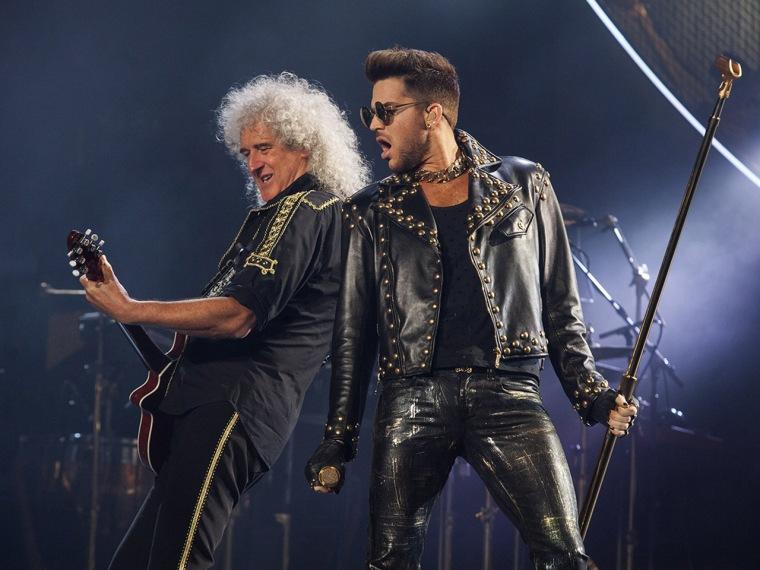 IMAGE: Brian May and Adam Lambert